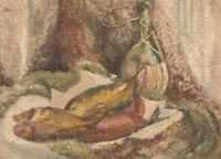 Mid 20th Century Oil - Still Life with Fish