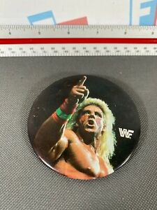 WWE WWF Ultimate Warrior Button Pin Badge Vintage 1990 Classic Flashback