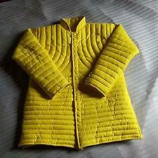 New Brand Thick Yellow Slim Gambeson Medieval Padded Collar Full Sleeves