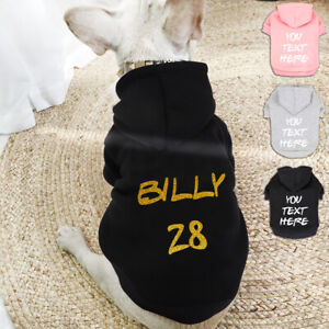 Personalised Dog Coat Winter Dog Clothes Hoodie Jacket for XSmall to XLarge Dogs