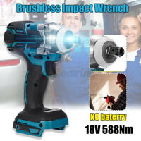 Cordless Brushless Impact Wrench Handheld 588N.M For Makita Battery