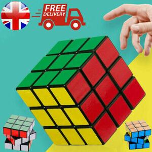2021 Kids Fun Rubiks Cube Toy Rubix Mind Game Classic Magic Rubic Puzzle Gift UK