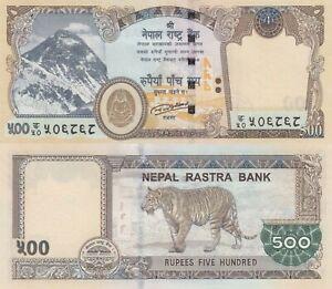 Nepal 500 Rupee (2016) - Mt. Everest/Tigers  p-81 UNC