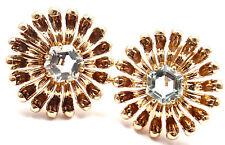 Rare! Authentic Vintage Tiffany & Co 14k Rose Gold Aquamarine Large Earrings