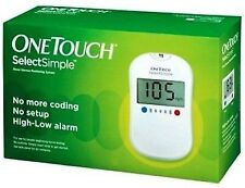 Johnson and Johnson Onetouch Select Simple Blood Glucose Meter with 10 strips
