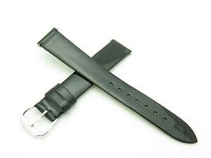 High Quality Genuine Black Patent Leather 16mm Size Watch Band With Pin Included
