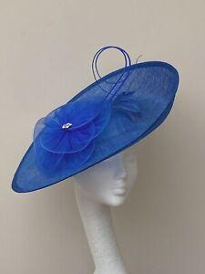 Royal Blue Saucer Fascinator / Hatinator / Hat