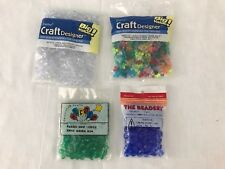 Craft Bead Lot Darice Beadery Tri-Bead 8mm Faceted Crystal Green 10mm Sapphire
