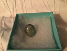emerald ring size 7 silver
