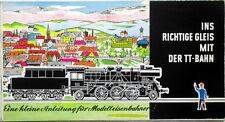 Ins Richtige Gleis TT-Bahn 1962 Zeuke Ratgeber Gleispläne Anleitung
