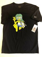 RVCA New Surf Tee Jersey Short Sleeve T-Shirt Men's Size Medium Black