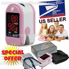 USA Seller, Finger Tip Pulse Oximeter blood Oxygen level SpO2 test monitor,PINK
