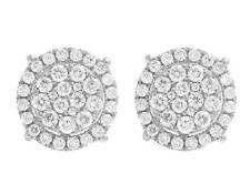 Pendientes de joyería de oro blanco diamante