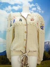 Pinelli exclusive Handarbeit beige mit tollem Motiv Trachtenjacke Jacke Gr.40