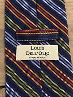 Louis Dell'Olio Italian Silk Men's Striped Neck Tie Made in Italy Olio Necktie