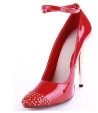 Fashion Womens Rivet Pointy Toe 13cn Wedding Party Sexy High Heel Shoes Uk Sz