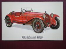 POSTCARD CAR 1932 1750CC ALFA ROMEO CAR