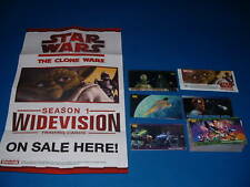 TOPPS STAR WARS CLONE WARS MINI MASTER SET & POSTER