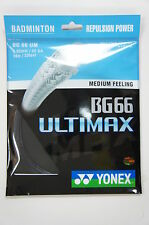 5 pkts  YONEX Badminton String BG66 Ultimax, BG 66 UM, Black, Made in Japan