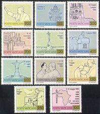 Vatican 1981 Pope John-Paul II/Travels/Buildings/Statues/People/Maps 11v n38499