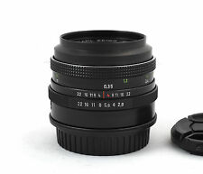 Carl Zeiss Jena Tessar 50mm f/2.8 adapted for Canon EOS EF Classic German Lens