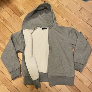 Vintage Camber Hoodie Thermal Lined USA Made Men's Grey