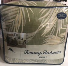 4-Pc Tommy Bahama Canyon Palms CaL King Comforter Set Tropical Leaves Green