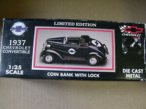 1937 CHEVROLET CONVERTIBLE 1/25 BANK DIE CAST RACING CHAMPIONS LIMITED EDITION
