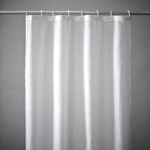 Bianco Tinta Unita Tenda Doccia IN Poliestere 300 x 200cm