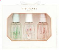 Ted Baker White Mini Body Spray Trio White Pink Green Gift Set