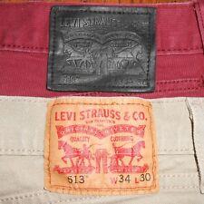 34x30 LOT OF TWO (2): Levi Strauss 513 Slim Fit Straight Leg Jeans Men's Pants