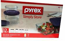 12-PC Pyrex Glass Food Storage Container Set Made in USA Brand New