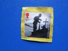 Raro francobollo da Regno Unito valore sterlina £1,52 militare caduti in guerra.