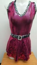 Dance Costume Small Adult Metallic Pink Sassy Dress Tap Jazz Solo Competition