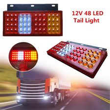 2×12V 48LED Car Truck Trailer Universal Rear Brake Lamps Tail Back-up Lamp Stud