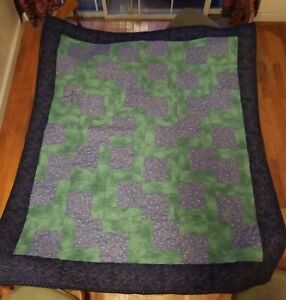 """Handmade El Camino Quilt Throw Blanket 52"""" X 46"""" NEW EXCELLENT CUDDLE QUILTS"""