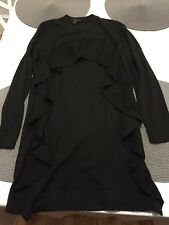 COS Womens Sweater Top Blouse Size Small Black 3/4 Sleeve 100% wool