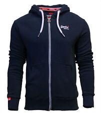 Superdry Mens New Orange Label Zip Through Hoody Navy