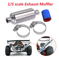 Metal Silence Muffler Exhaust Pipe Fits For 1:5 HPI BAJA 5B SS ROVAN RC Car