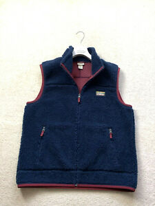 Men's L.L. BEAN Vest SHERPA Gilet Jacket Coat Fleece Synchilla Body Warmer SZ L