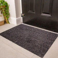 Dark Grey Non Slip Door Mat Durable Washable Hall Runner Dirt Absorbing Doormat
