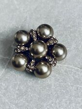 Bronze & Diamante Broach / New Xmas Gifts