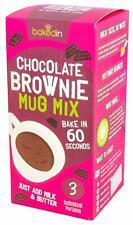 Bakedin 3 Individual Pack Chocolate Mug Brownie Mix Cake Easy Microwave Dessert