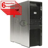 HP Trading 6 Monitor PC Z600 Computer 2x Intel E5506 2.13Ghz 8GB 250GB  Win10
