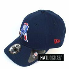 New Era - New England Patriots Heritage Logo Navy Curved Strapback
