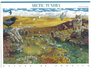US SCOTT 3802 PANE OF 10 ARCTIC TUNDRA 37 CENTS FACE MNH 5TH IN SERIES