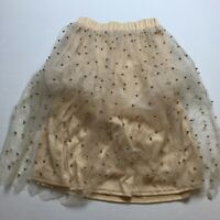 Club L Beach Pink Gold Beaded Glitter Tulle Skirt US Size 6 A1525