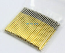 100 Pieces P100-LM2 Dia 1.36mm Length 33.35mm Spring Test Probe Pogo Pin