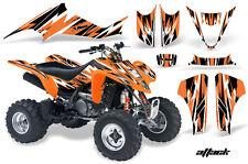 Suzuki LTZ 400 AMR Racing Graphic Kit Wrap Quad Decals ATV 2003-2008 ATTACK ORNG