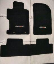 For 06-11 Honda Civic 2 4Dr Floor Mat Carpets Black Nylon W/EMBLEM